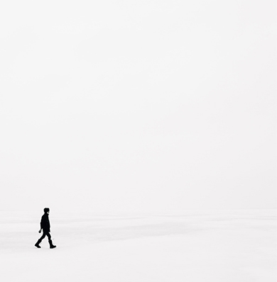 Person walking on the beach