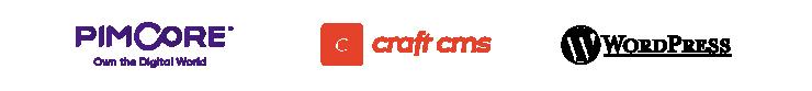 Pimcore, Craft CMS, Wordpress